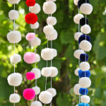 pompomgalore multi and white vinve